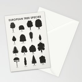 Infographic Guide for Tree Species by Shapes or Silhouette Stationery Cards