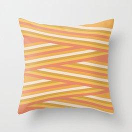 stripey sunny square Throw Pillow