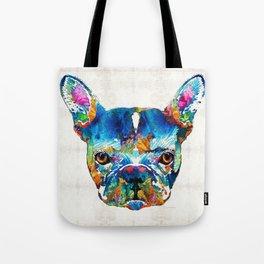 Colorful French Bulldog Dog Art By Sharon Cummings Tote Bag