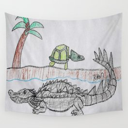 American Alligator Wall Tapestry