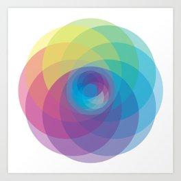 Spiral Rose Art Print