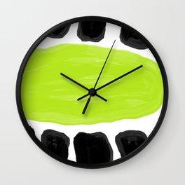 Kiwifruit lime green Wall Clock