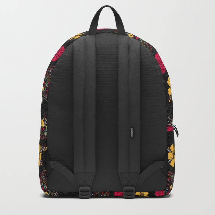 Day of the Dead Kitty Cat Sugar Skull Backpack
