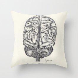 BALLPEN BRAIN 1 Throw Pillow