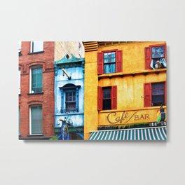 Blue Narrow House Metal Print