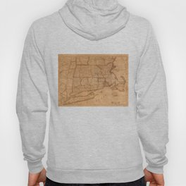 Vintage Map of New England States (1843) Hoody