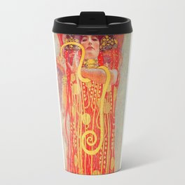 Gustav Klimt - Greek Goddess of Medicine Hygeia Travel Mug