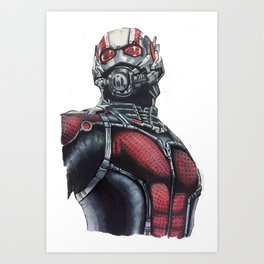 Ant  Man Hand drawn by Ghowy Art Print