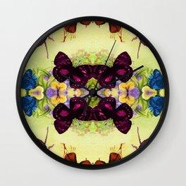 Vintage Butterfly Pattern Wall Clock