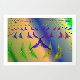 Continual coming and going Art Print