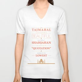 Lab No. 4 - Tajmahal motivational quotes Poster Unisex V-Neck