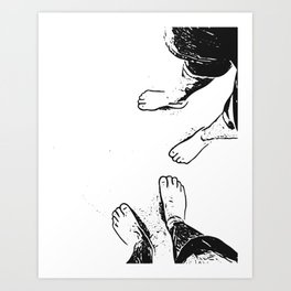 Feet on the sand Art Print