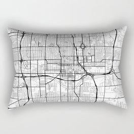 Oklahoma City Map White Rectangular Pillow