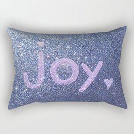 Joy Glitter Card Rectangular Pillow