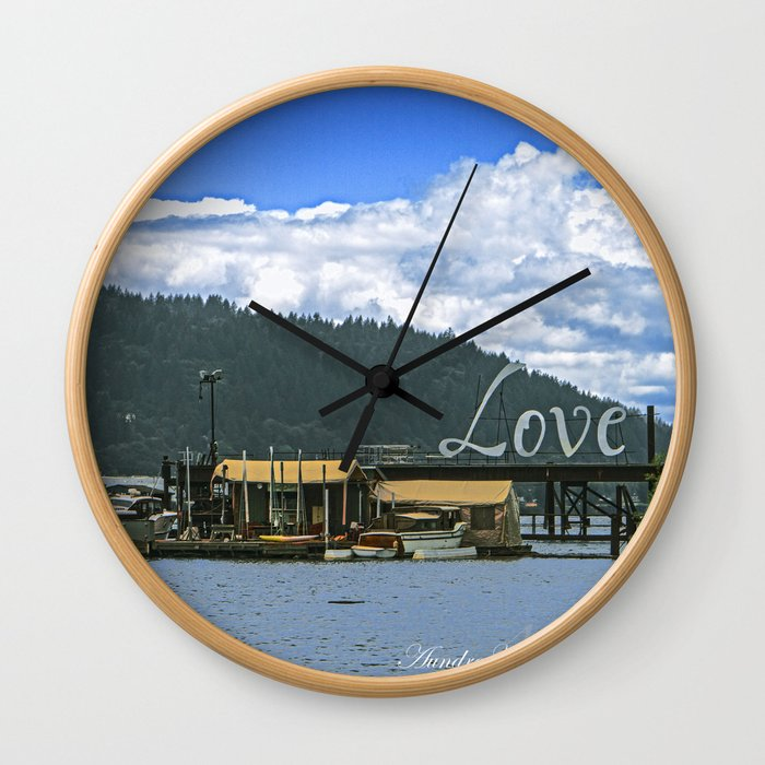 Love Harbor Wall Clock