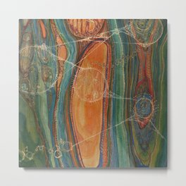 Lively Synapses (Amplified Current) Metal Print