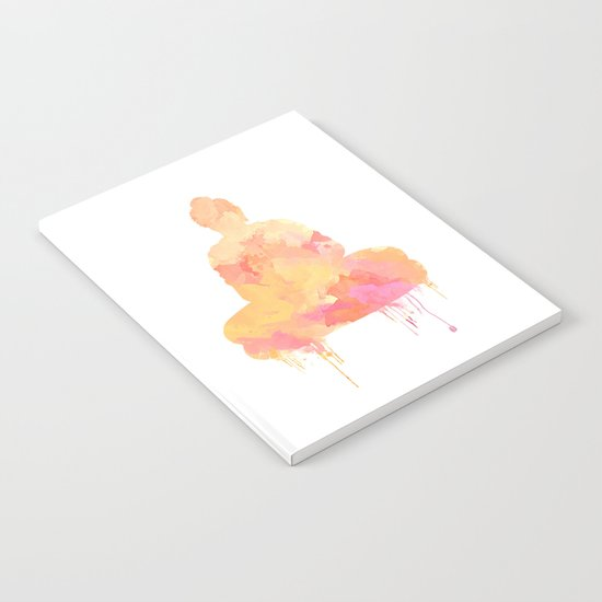 Buddha art illustration watercolor Notebook