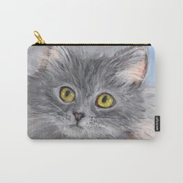 Little Grey Kitten Carry-All Pouch