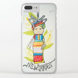 No Worries Clear iPhone Case