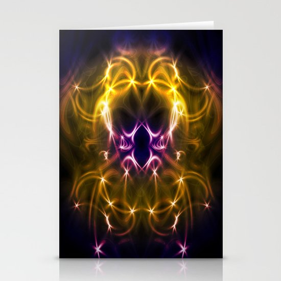Golden abstract Stationery Cards