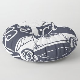 City Night Drive for people who like cool chill designs  Floor Pillow