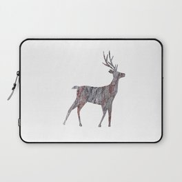 deer silhouette stag pine bark Laptop Sleeve