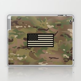 U.S. Flag: Woodland Camouflage Laptop & iPad Skin