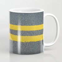street Mugs featuring Street by Anna Berthier