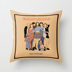 Empire Records Vintage Movie Poster Throw Pillow