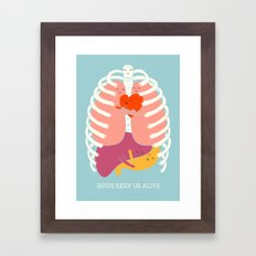 Hugs keep us alive Framed Art Print
