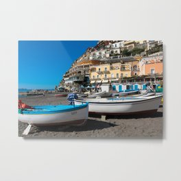 Positano Boats Metal Print