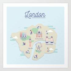 London map Art Print