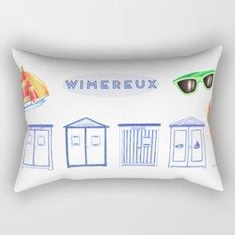 Un été à Wimereux Rectangular Pillow