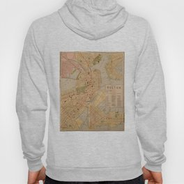 Vintage Map of Boston MA (1902) Hoody