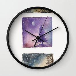 miniatures of the night sky Wall Clock