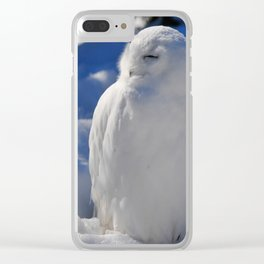 Snowy in the Snow by Teresa Thompson Clear iPhone Case