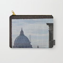 Saint Peter's Basilica framed by Domus Augustea Carry-All Pouch