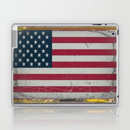Grungy Vintage Antique American Flag Design  Laptop & iPad Skin