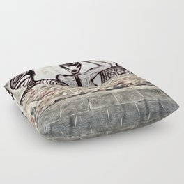 3Ladies-Banksy Floor Pillow