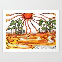 Liquid Star Art Print
