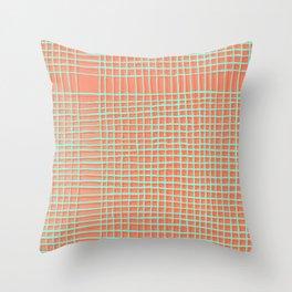 Left - Orange and green Throw Pillow