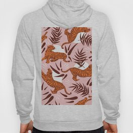 Vibrant Wilderness / Tigers on Pink Hoody