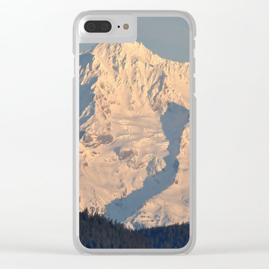 Twilight Over Mount Hood Clear iPhone Case