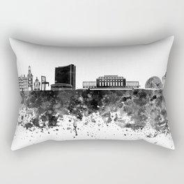 Geneva skyline in black watercolor Rectangular Pillow