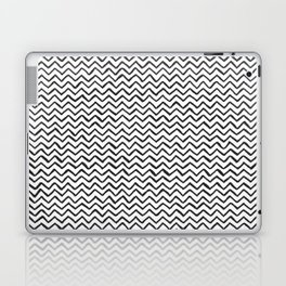 Black & White Hand Drawn ZigZag Pattern Laptop & iPad Skin
