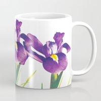 iris Mugs featuring Iris by Matt McVeigh