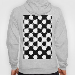 Black White Geometricals With Mandala Hoody