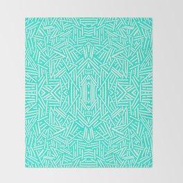 Radiate (Mint) Throw Blanket