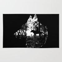 mononoke Area & Throw Rugs featuring Mononoke Forest by kamonkey