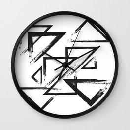 abstract geometry triangles Wall Clock